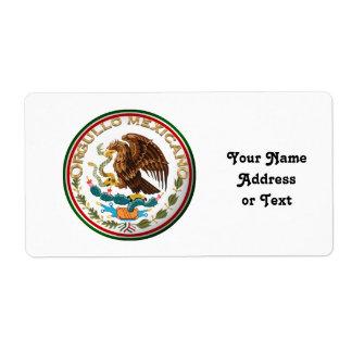 Orgullo Mexicano (Eagle from Mexican Flag) Label