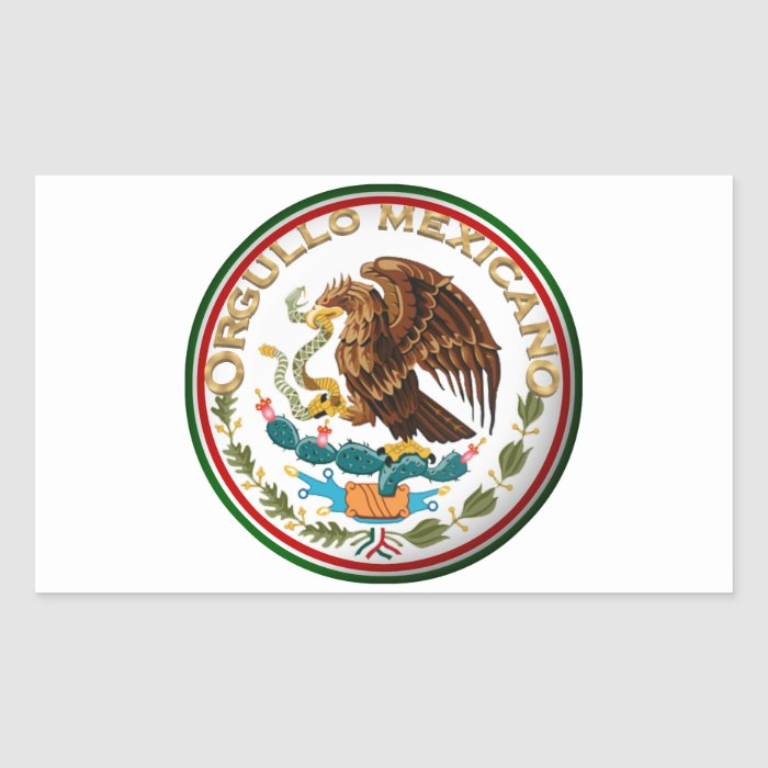 Orgullo Mexicano (Eagle from Mexican Flag) Rectangular Sticker