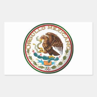 Orgullo Mexicano (Eagle from Mexican Flag) Rectangle Sticker