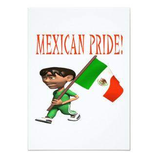 Orgullo mexicano invitación 12,7 x 17,8 cm
