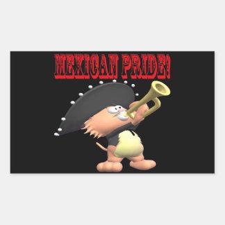 Orgullo mexicano pegatina rectangular