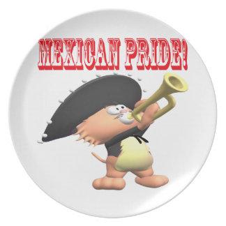 Orgullo mexicano plato para fiesta