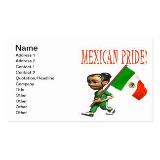 Orgullo mexicano plantilla de tarjeta de negocio
