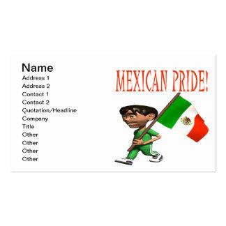 Orgullo mexicano plantillas de tarjetas personales