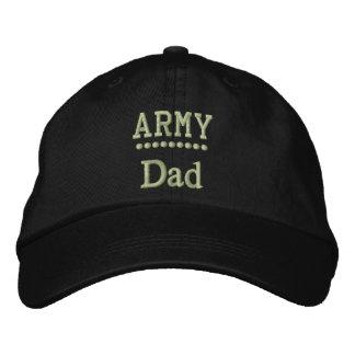 Orgullo militar de la familia del papá del gorros bordados