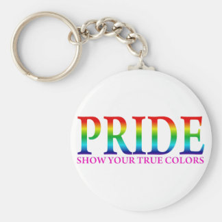 Orgullo - muestre sus colores verdaderos llavero redondo tipo pin