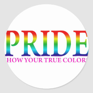 Orgullo - muestre sus colores verdaderos pegatina redonda
