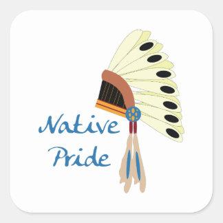 Orgullo nativo calcomanía cuadradas personalizadas