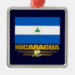"""Orgullo nicaragüense "" Adorno Cuadrado Plateado"