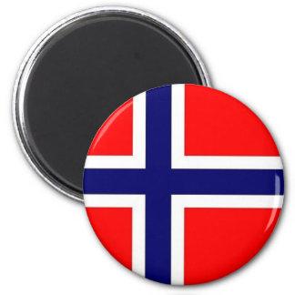 Orgullo noruego imán redondo 5 cm