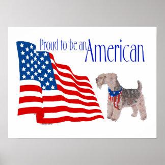 Orgullo patriótico en América Póster
