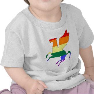 Orgullo Pegaso de GLBT Camiseta