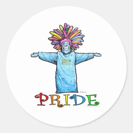 Orgullo Pegatina Redonda