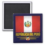 """""""Orgullo peruano """" Imán Cuadrado"""
