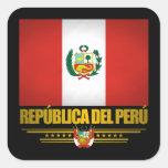 """Orgullo peruano "" Pegatinas Cuadradases Personalizadas"