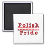 Orgullo polaco imán para frigorífico