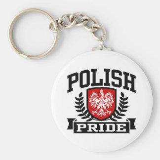 Orgullo polaco llavero redondo tipo pin