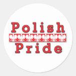 Orgullo polaco pegatina redonda