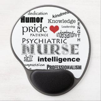 Orgullo psiquiátrico de la enfermera+Corazón Alfombrillas De Ratón Con Gel