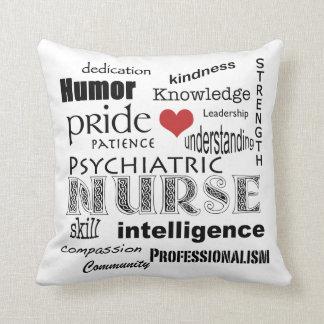 Orgullo psiquiátrico de la enfermera+Corazón Cojines