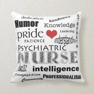 Orgullo psiquiátrico de la enfermera+Corazón Cojin
