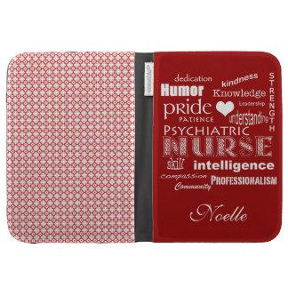 Orgullo psiquiátrico de la enfermera+Corazón/rojo