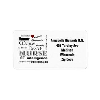 Orgullo psiquiátrico de la enfermera+Personalice e Etiqueta De Dirección