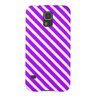 ¡ORGULLO PÚRPURA! ~ (del diseño rayado) Carcasa De Galaxy S5
