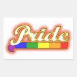 Orgullo que brilla intensamente del orgullo gay