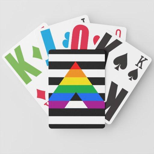 Orgullo recto del aliado baraja cartas de poker