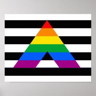 Orgullo recto del aliado posters