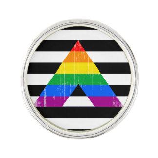 Orgullo recto distressed.png del aliado insignia