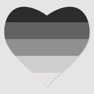 Orgullo recto pegatina en forma de corazón