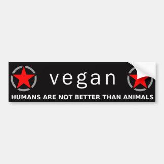 Orgullo rojo del vegano pegatina para auto