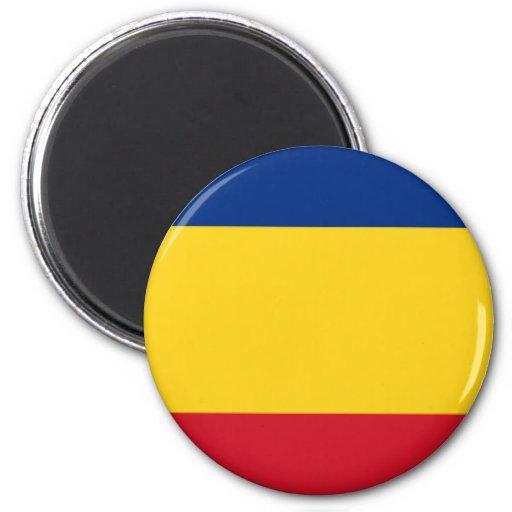 Orgullo rumano imán redondo 5 cm
