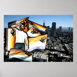 Orgullo San Francisco del oso Posters