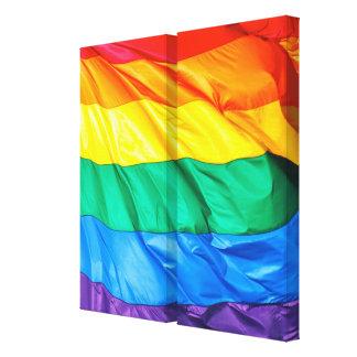 Orgullo sólido - primer de la bandera del orgullo impresiones de lienzo