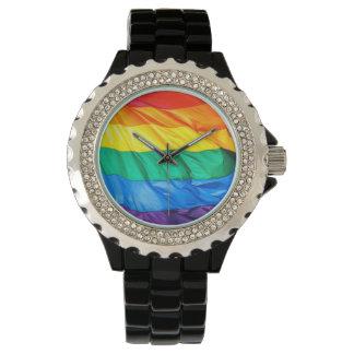 Orgullo sólido - primer de la bandera del orgullo relojes de pulsera