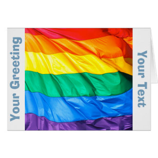 Orgullo sólido - primer de la bandera del orgullo tarjeta de felicitación