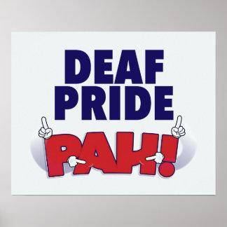 ¡Orgullo sordo PAH! poster Póster