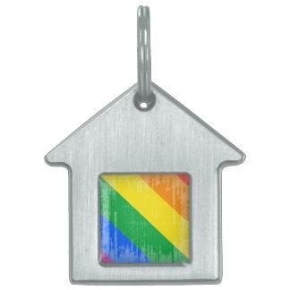 Orgullo Stripes.png de Lgbt Placas De Nombre De Mascota