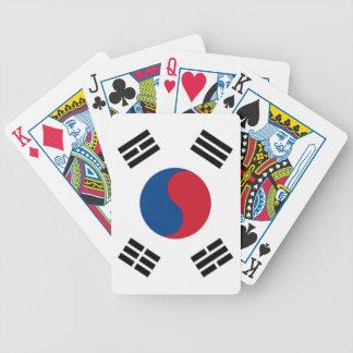 Orgullo surcoreano baraja de cartas bicycle