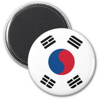 Orgullo surcoreano imán redondo 5 cm