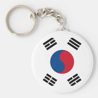 Orgullo surcoreano llavero redondo tipo pin