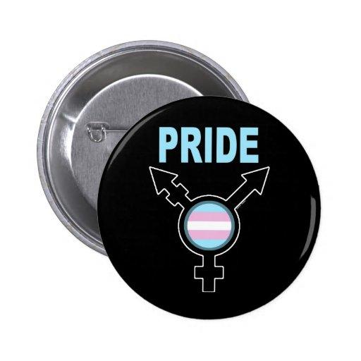 Orgullo transexual pin redondo 5 cm
