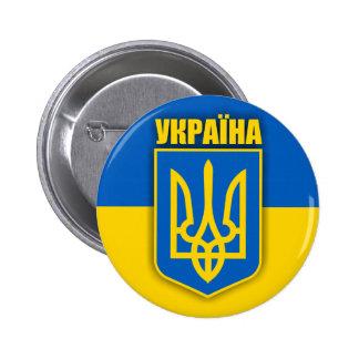 Orgullo ucraniano pin redondo 5 cm