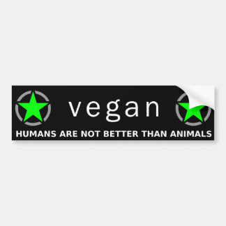 Orgullo verde del vegano pegatina para auto