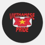Orgullo vietnamita pegatina redonda