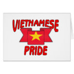 Orgullo vietnamita tarjeton