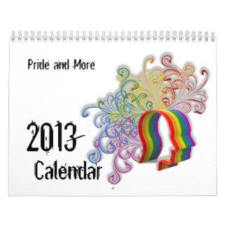 Orgullo y más calendario del orgullo de 2013 LGBT